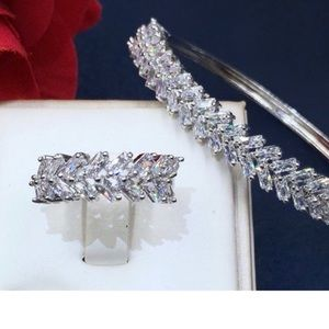 CZ Bangle and Ring Set